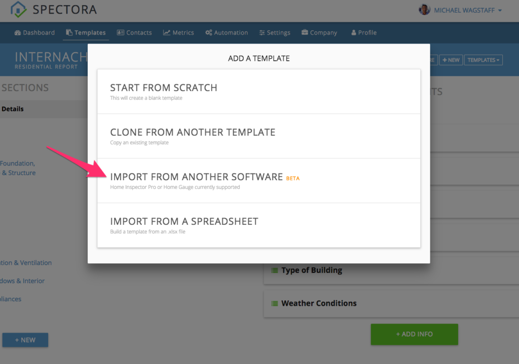 Import a Template from HIP, HomeGauge, or other software