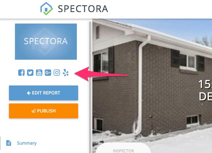Link Spectora to Social Media