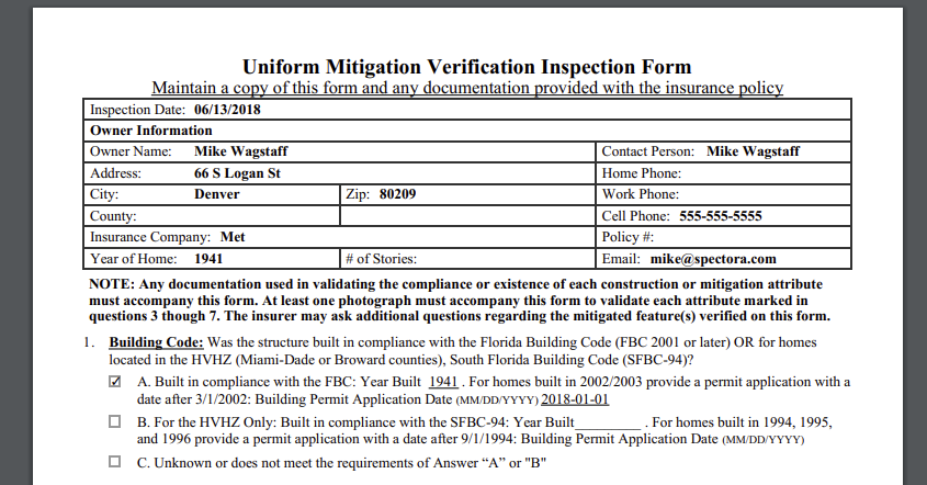 In App Florida Wind Mitigation Reports The Official